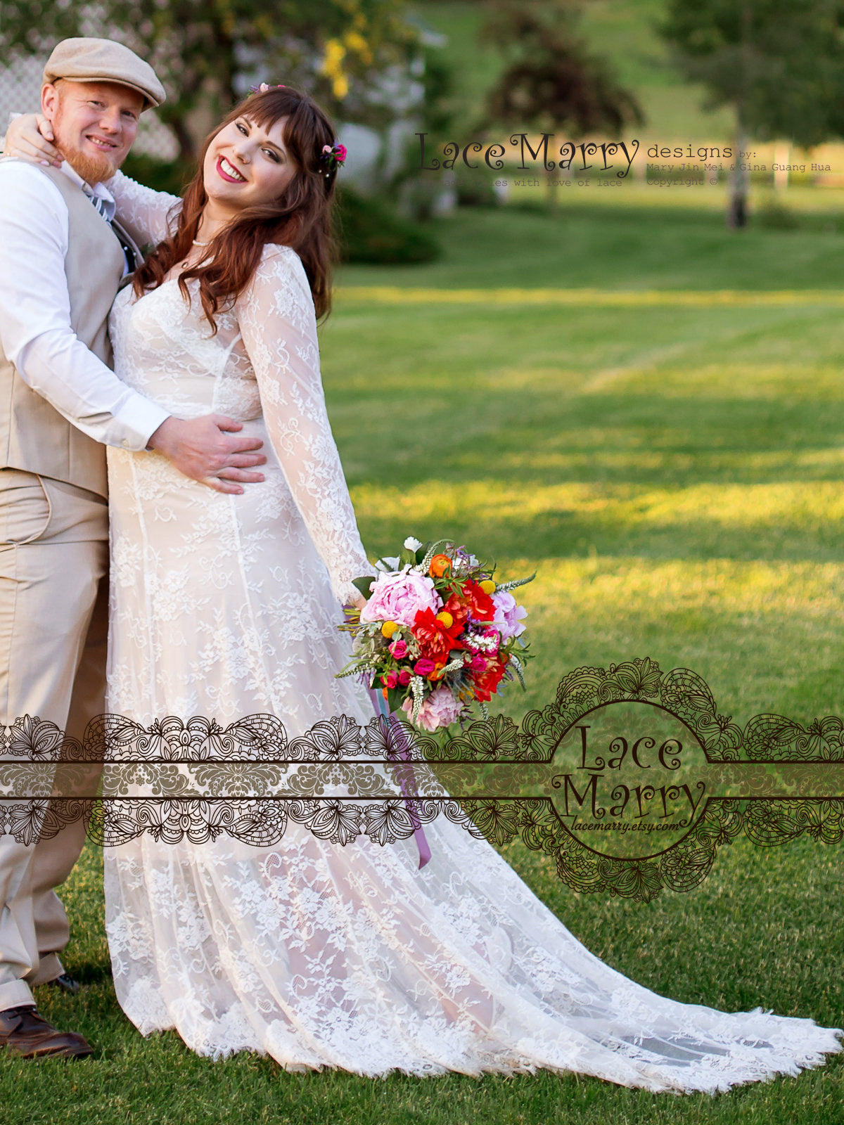 Relaxed Bohemian Style Wedding Dress