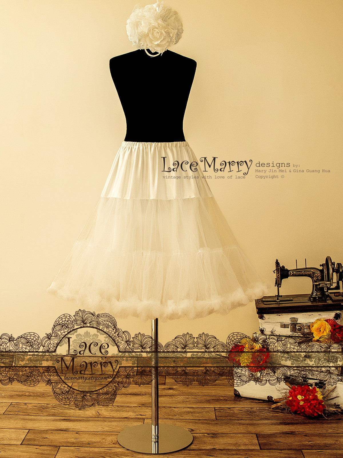 1950's Vintage Inspired Petticoat in A Line Shape
