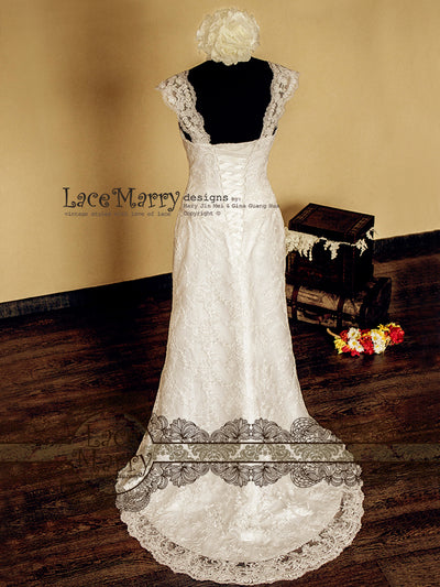 Slim Lace Wedding Dress