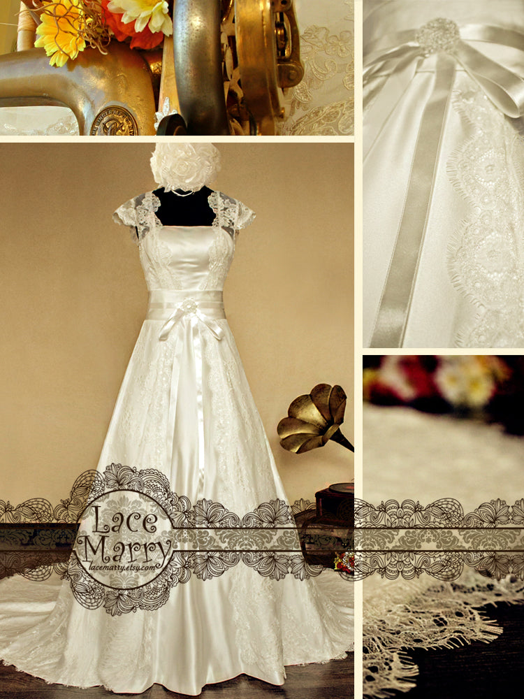 A-Line Style Lace Wedding Dress