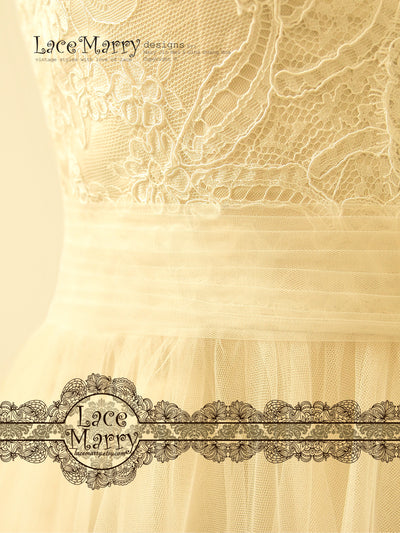 Ivory Wedding Dress with Airy Tulle