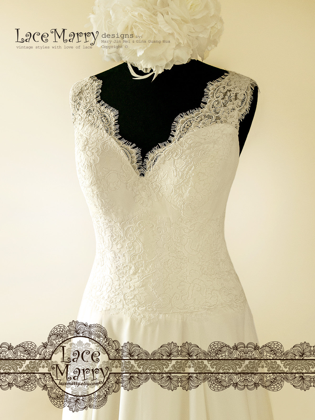 Lace Wedding Dress with Lace Straps