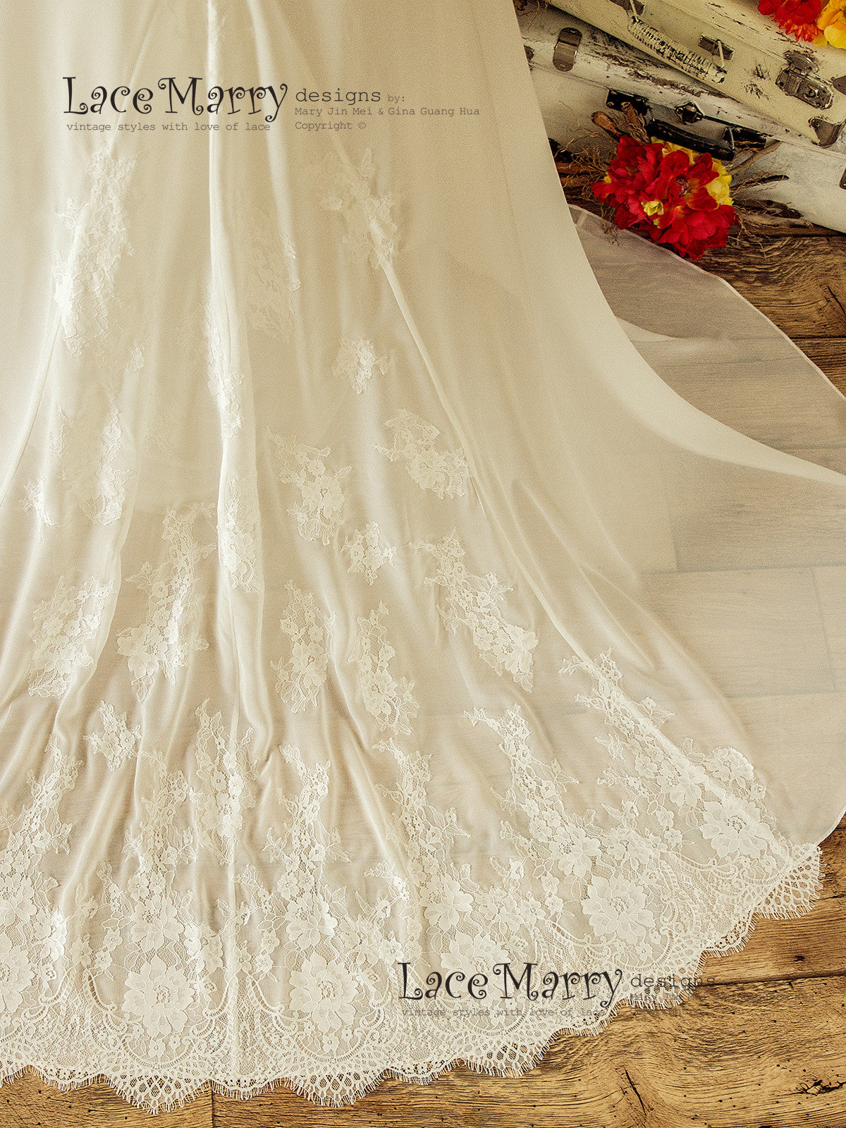 Chiffon and Lace Wedding Dress