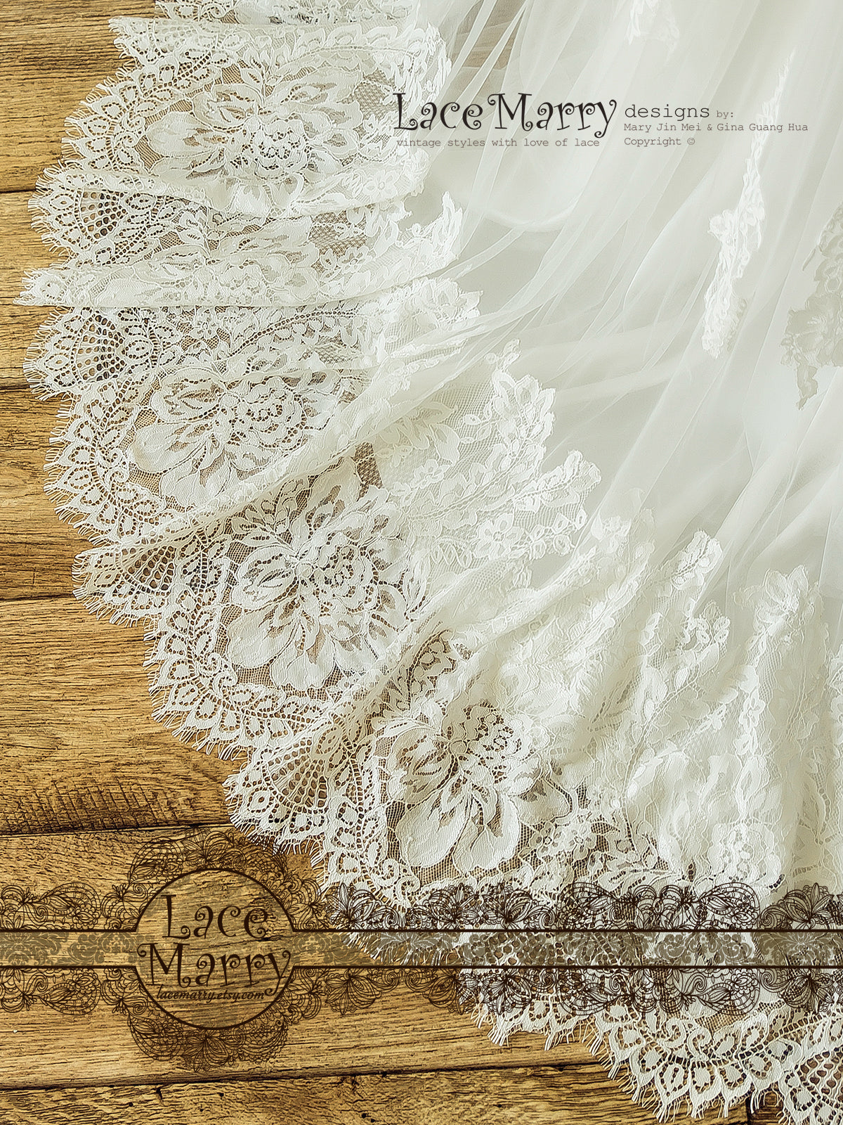 Chantilly French Lace Wedding Dress