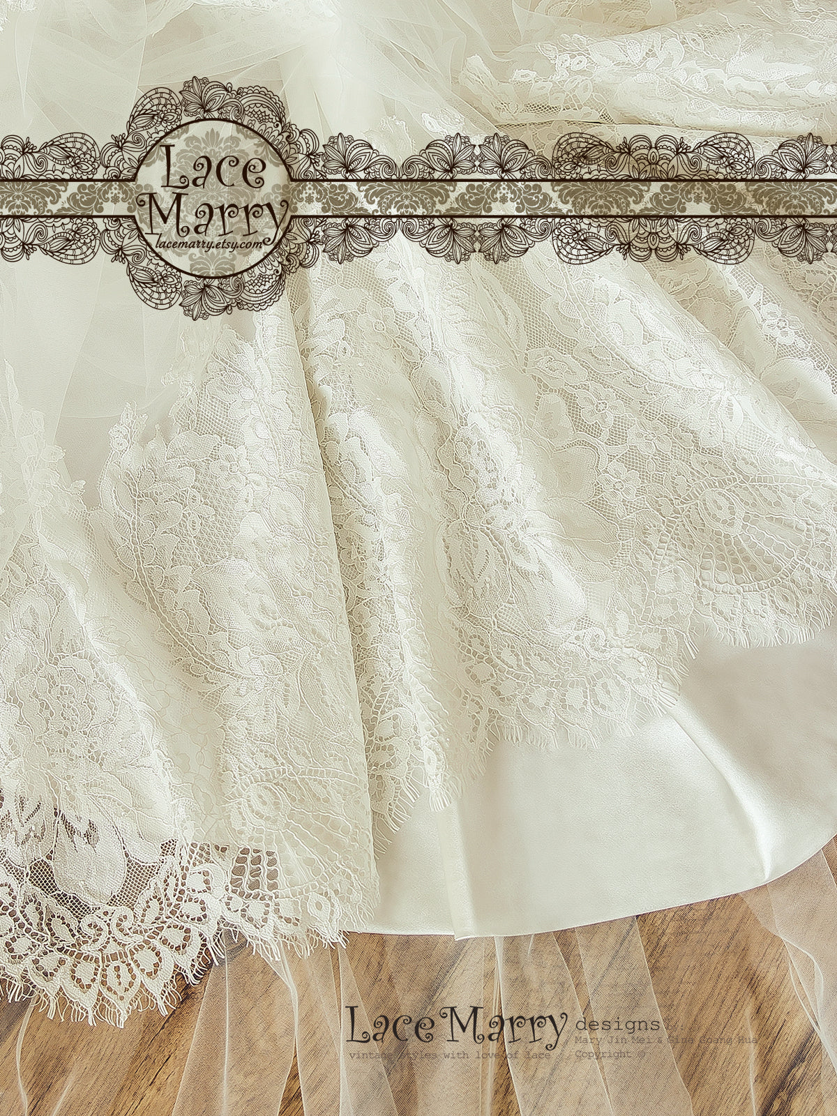 Ivory Underlay Lace Wedding Dress
