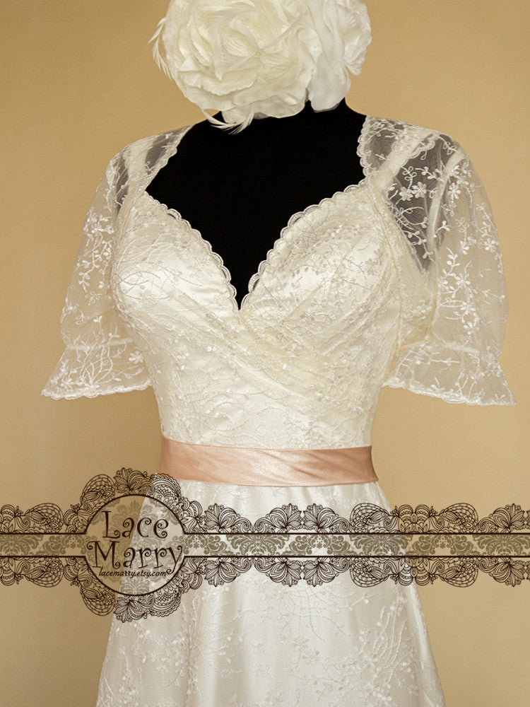 Lace Wedding Dress with Lace Bolero