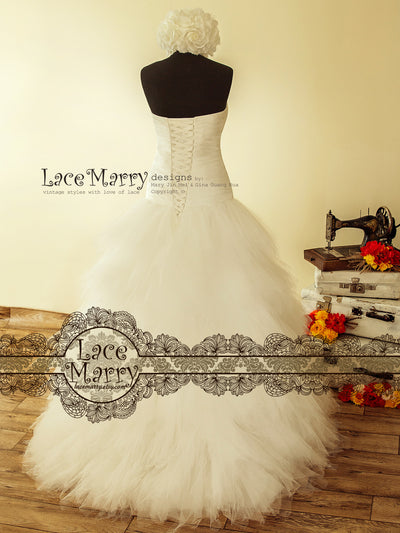Wedding Dress with Dropped Waist