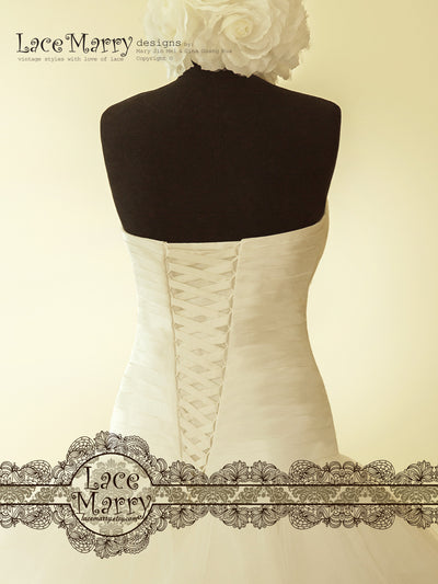 Wedding Dress with Lace Up Closure