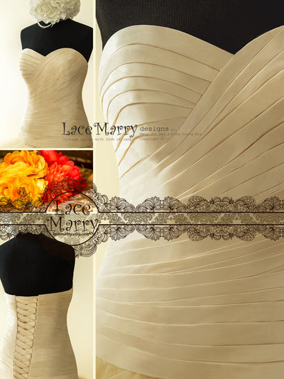 Drop Waist Bodice Wedding Dress