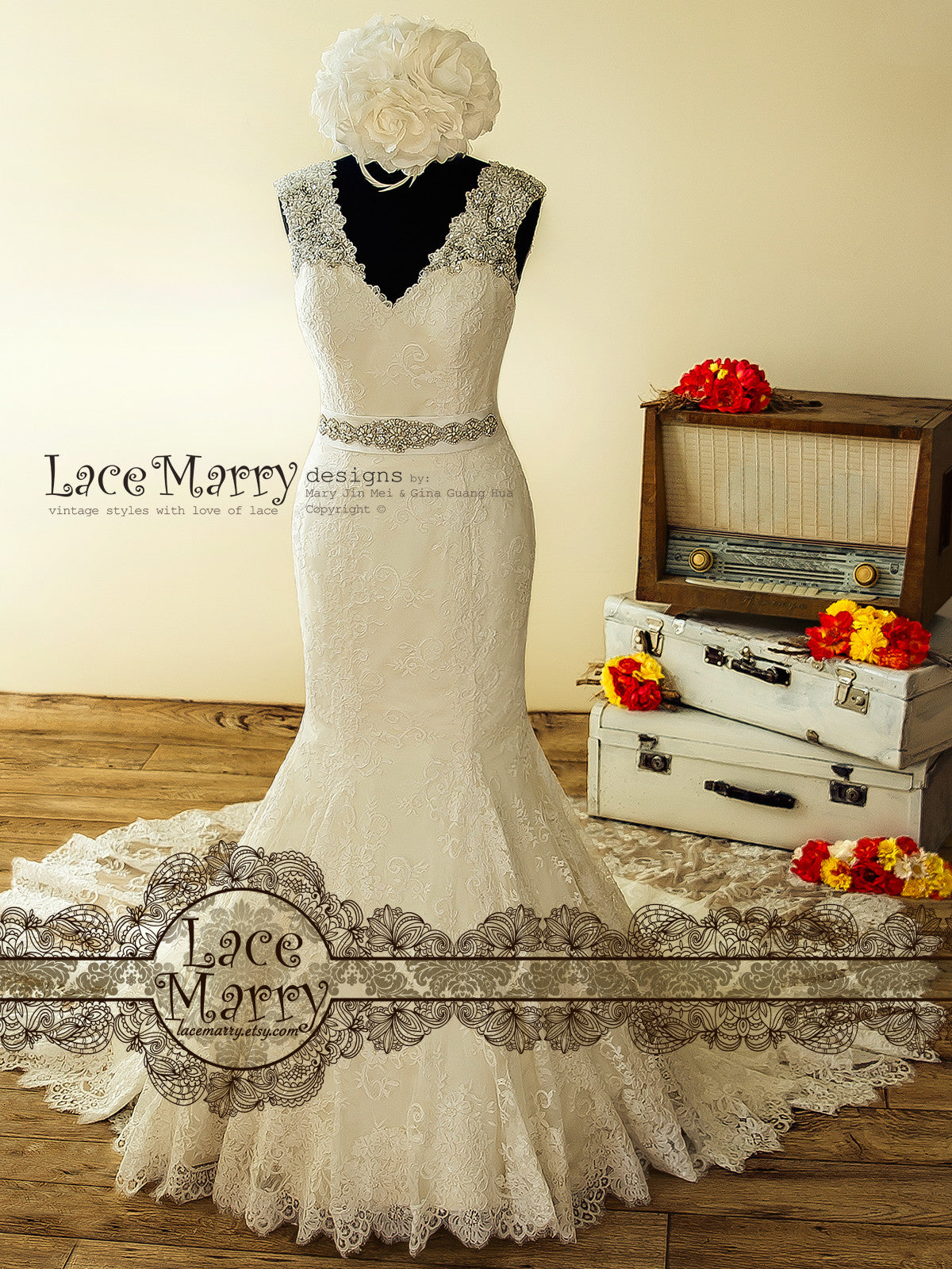 Gorgeous Wedding Dress in Trumpet Shape