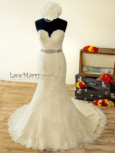 High Quality French Lace Wedding Dress