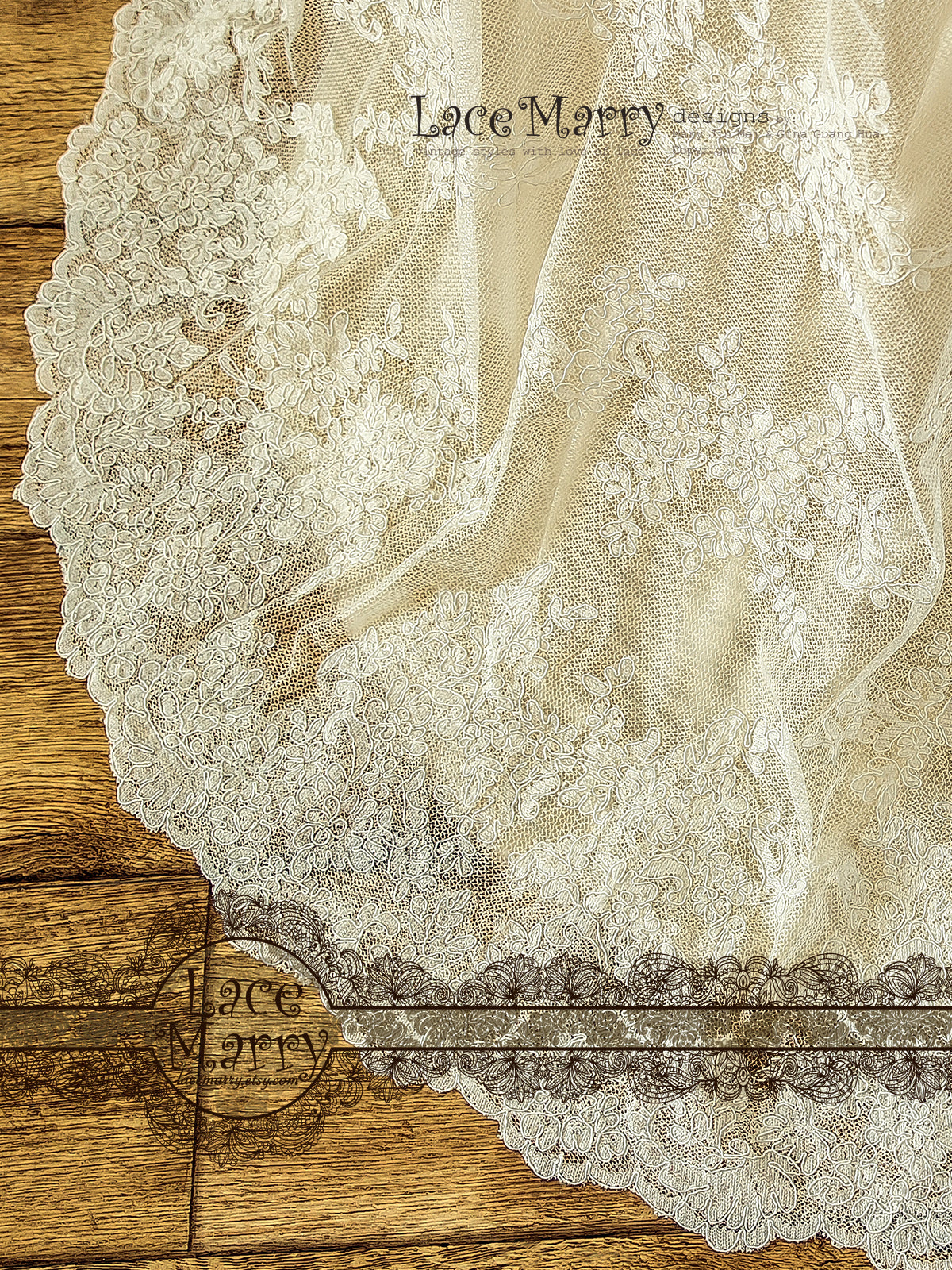 Sweep Train Lace Wedding Dress