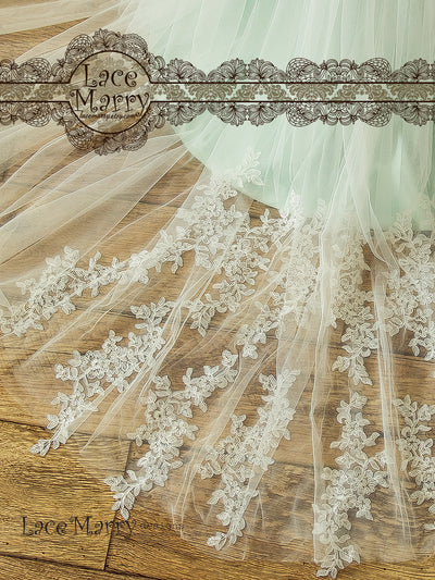 Wedding Dress with Romantic Lace Train