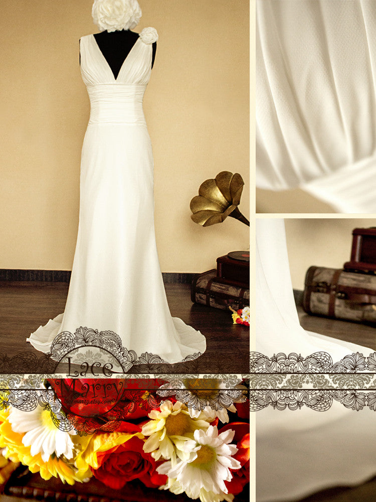 Chiffon Wedding Dress Perfect for Destination Weddings