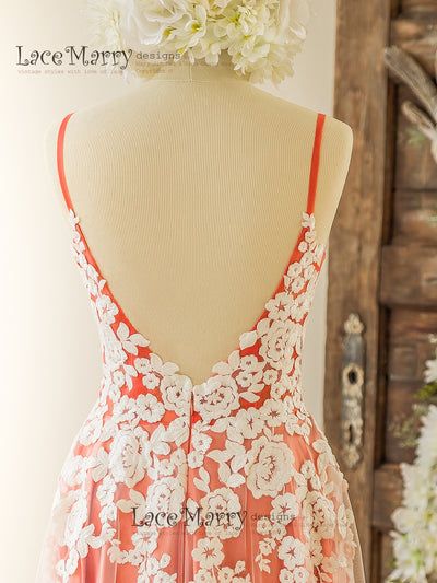 Open V Back Wedding Dress