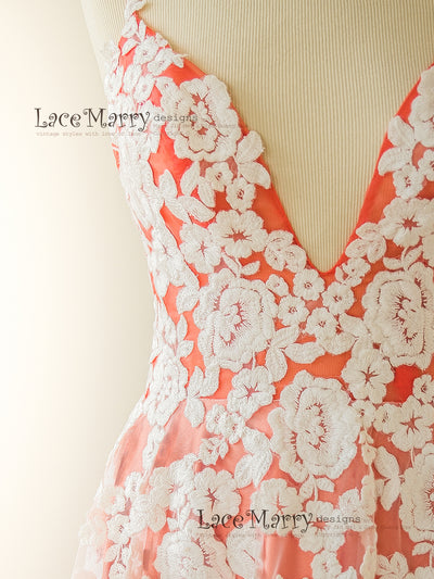 Lightweight Flower Applique Wedding Dress