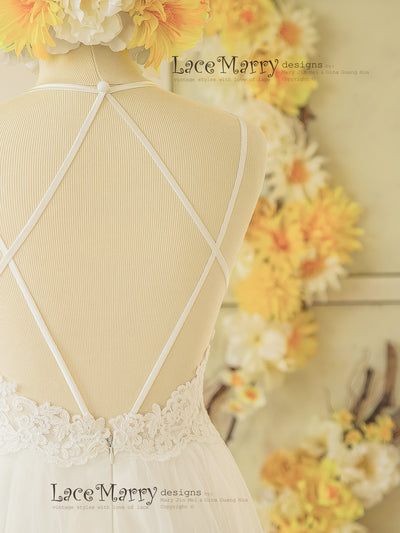 Open Back Design Wedding Dress