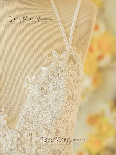 Bohemian Style Lace Wedding Dress