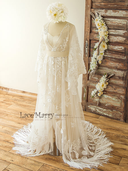 Silk and Lace Wedding Dress