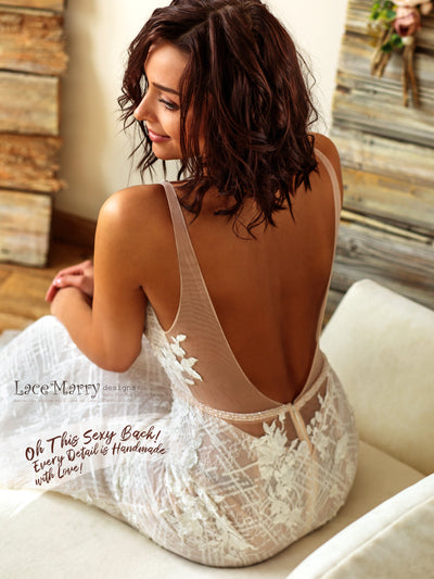 Amazing Sexy Back Wedding Dress