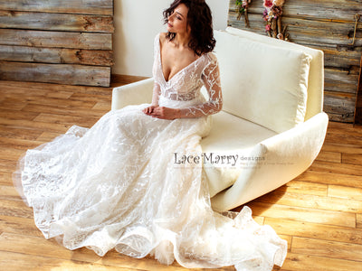 Elegant and Sexy Wedding Dress for Winter Wedding