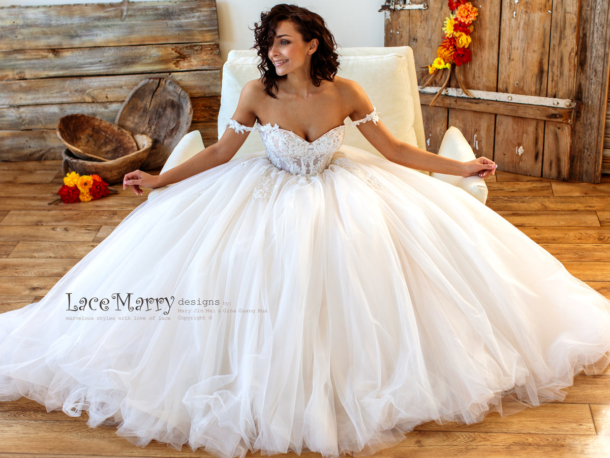 Princess Wedding Dress with Corset Bodice