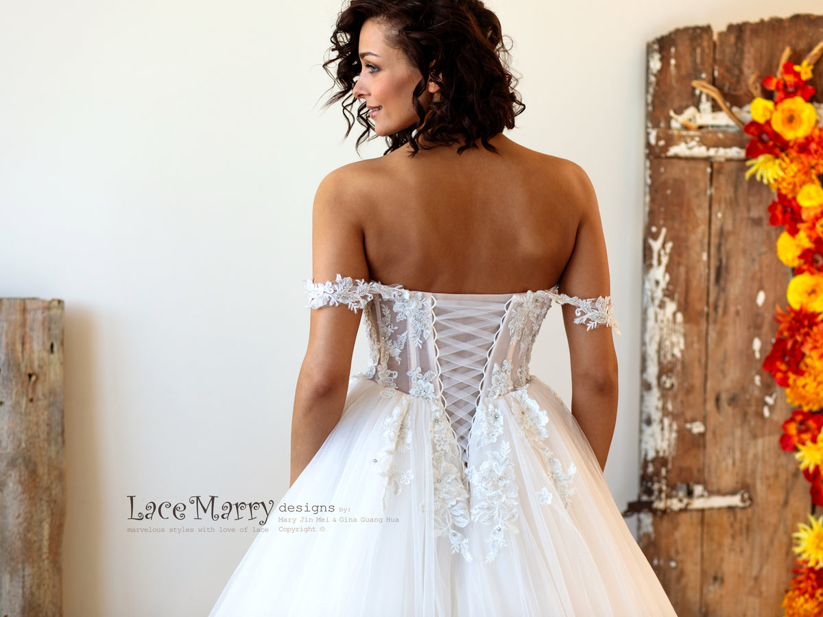 Summer Wedding Dress with Off Straps