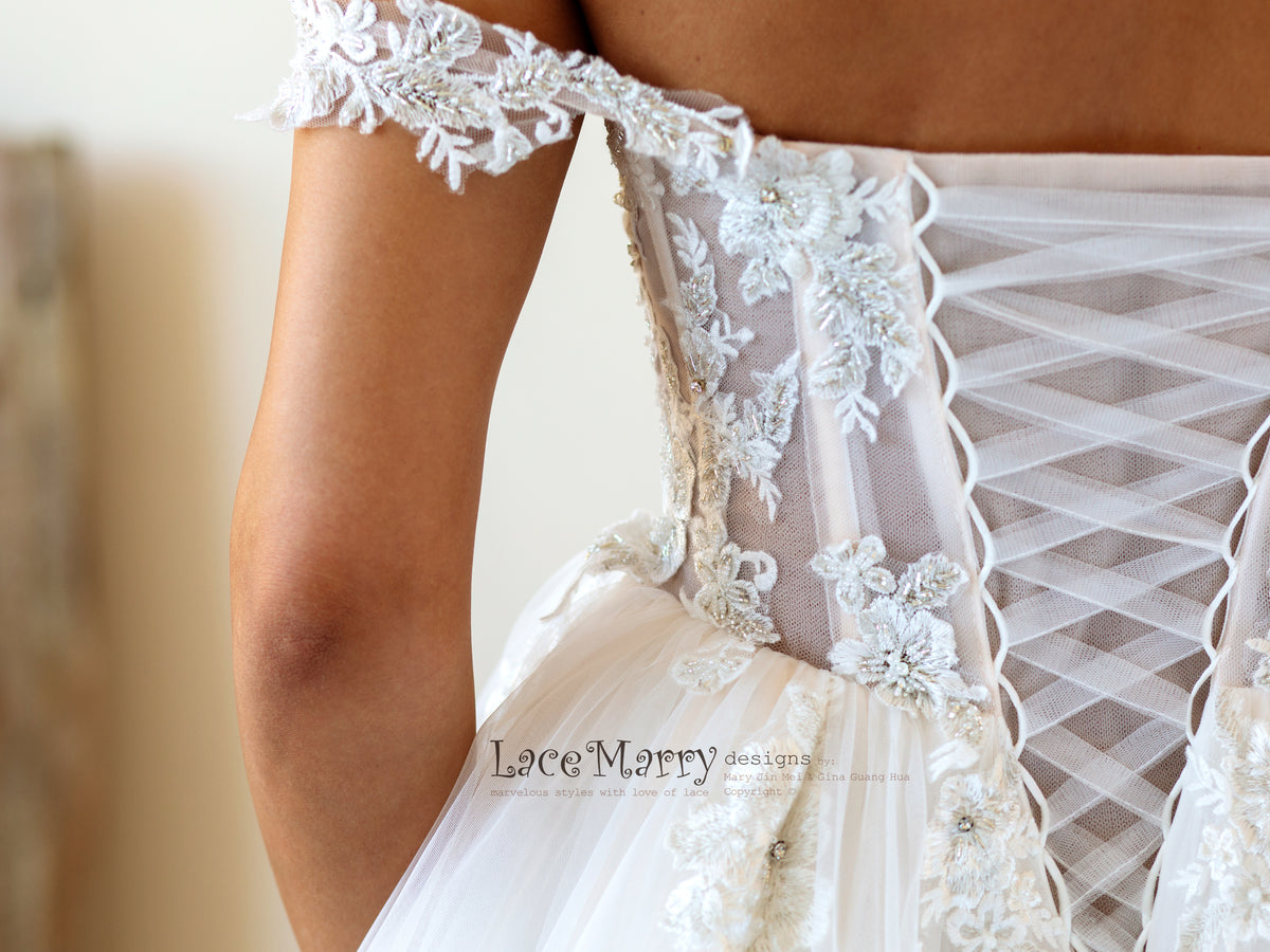 Beautiful Handmade Wedding Dress with Beading