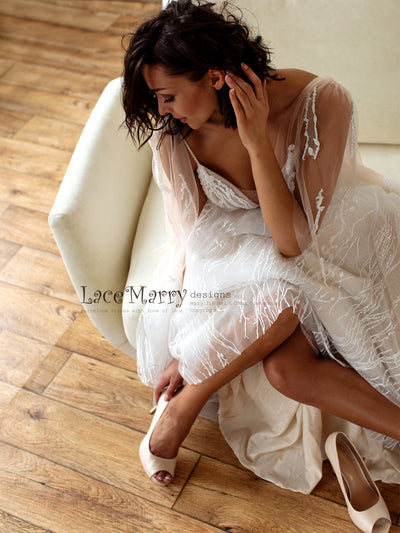 Soft Wedding Dress for Beach Wedding
