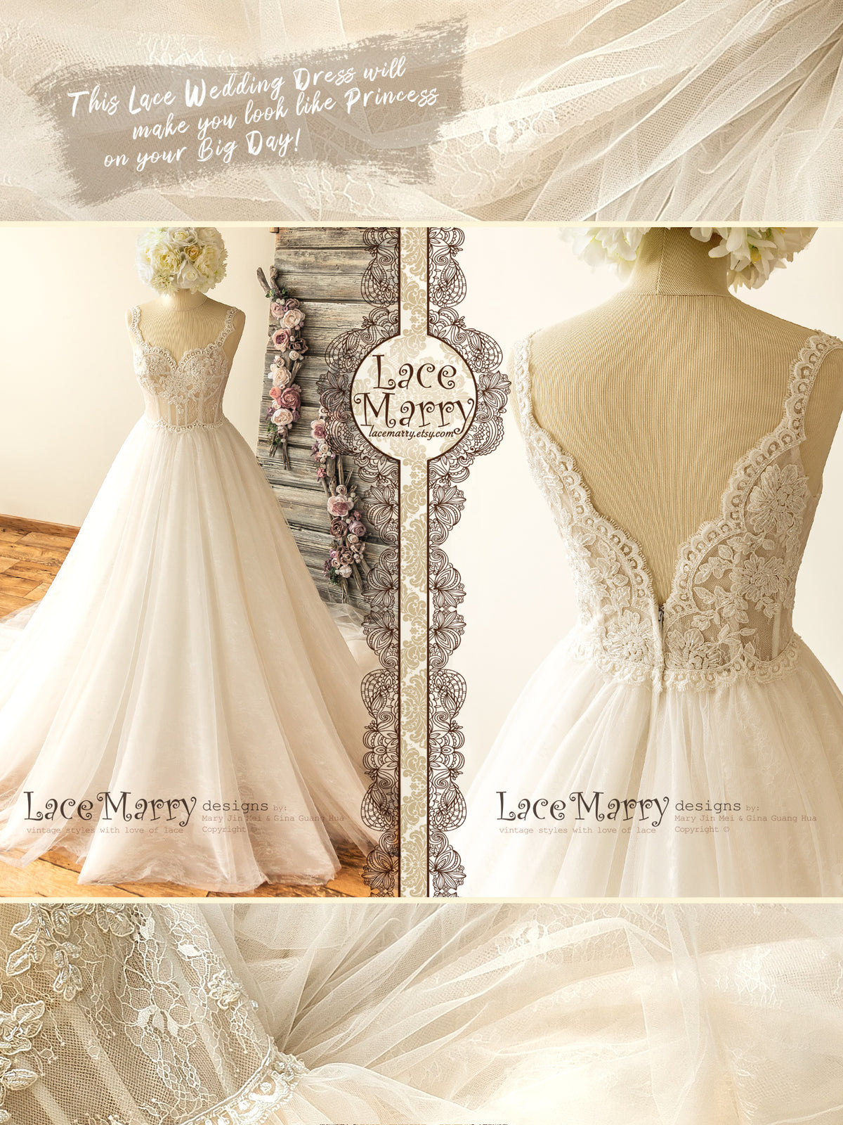 Romantic Princess Wedding Dress