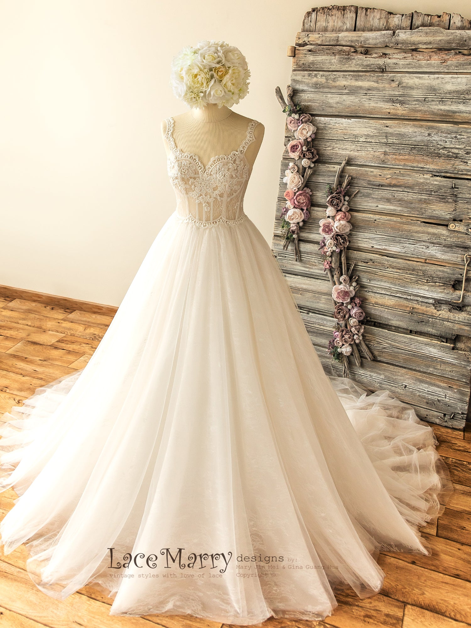 Princess Corset Wedding Dress with Sweetheart Top