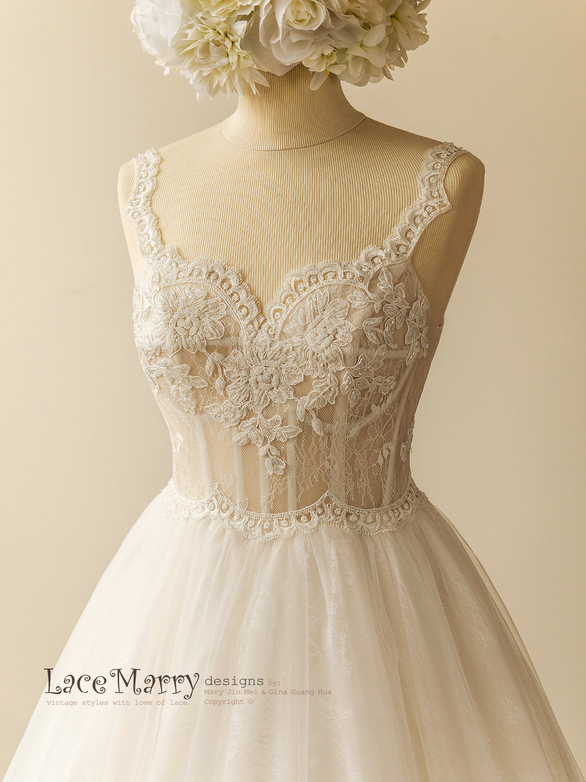 Corset Style Romantic Wedding Dress