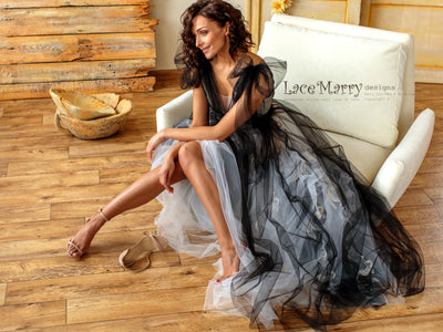 Black Ombre Wedding Dress