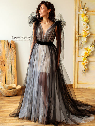 Sexy Black Wedding Dress