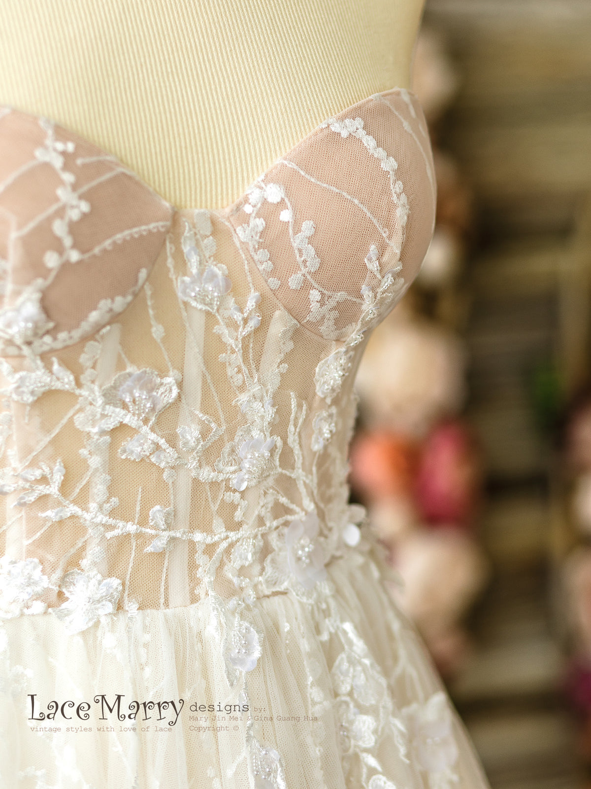 Beaded Bustier Wedding Dress