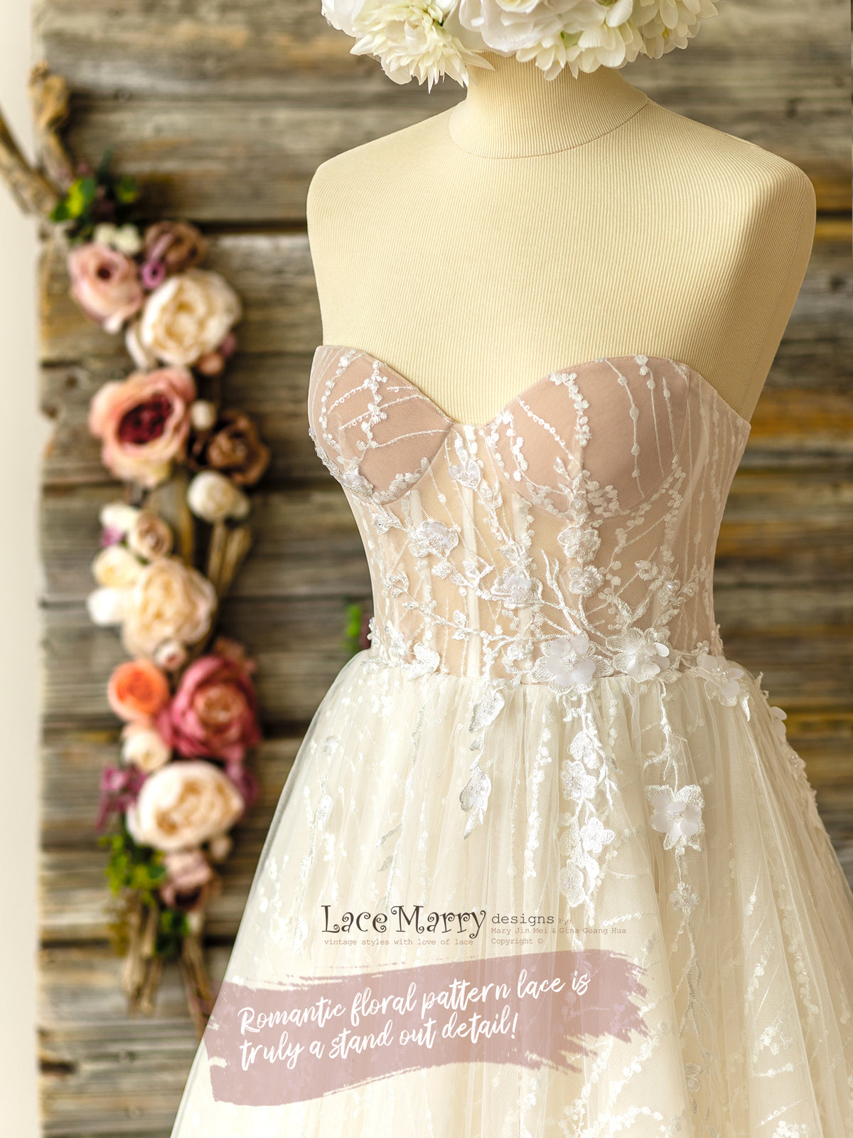 Modern Bustier Wedding Dress