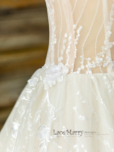 Gorgeous Lace Wedding Dress Detail