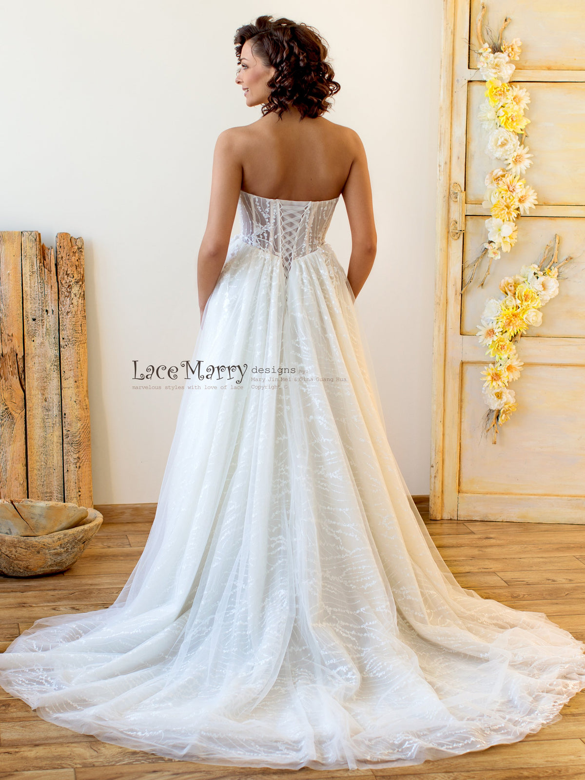 Corset Back Lace Wedding Dress