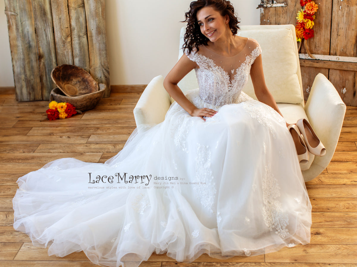Summer Wedding Dress with Off Shoulders