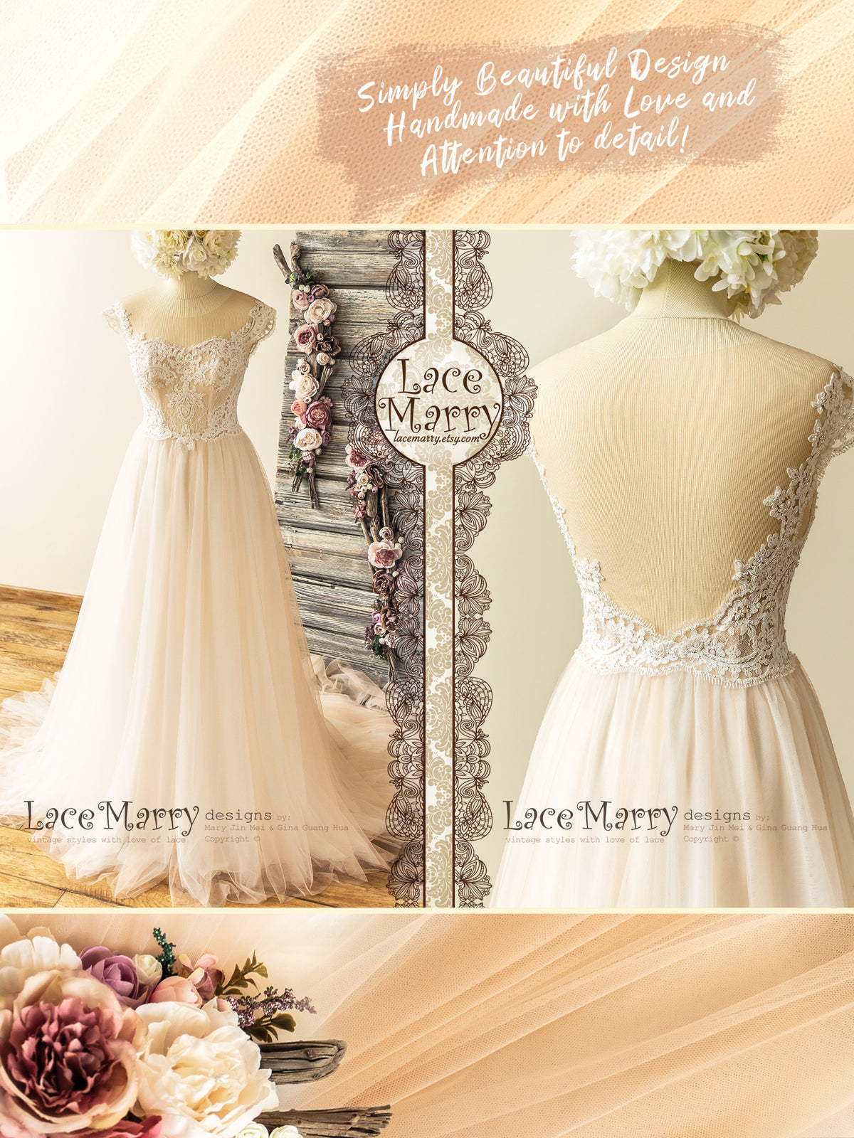 Light Wedding Dress for Beach Wedding