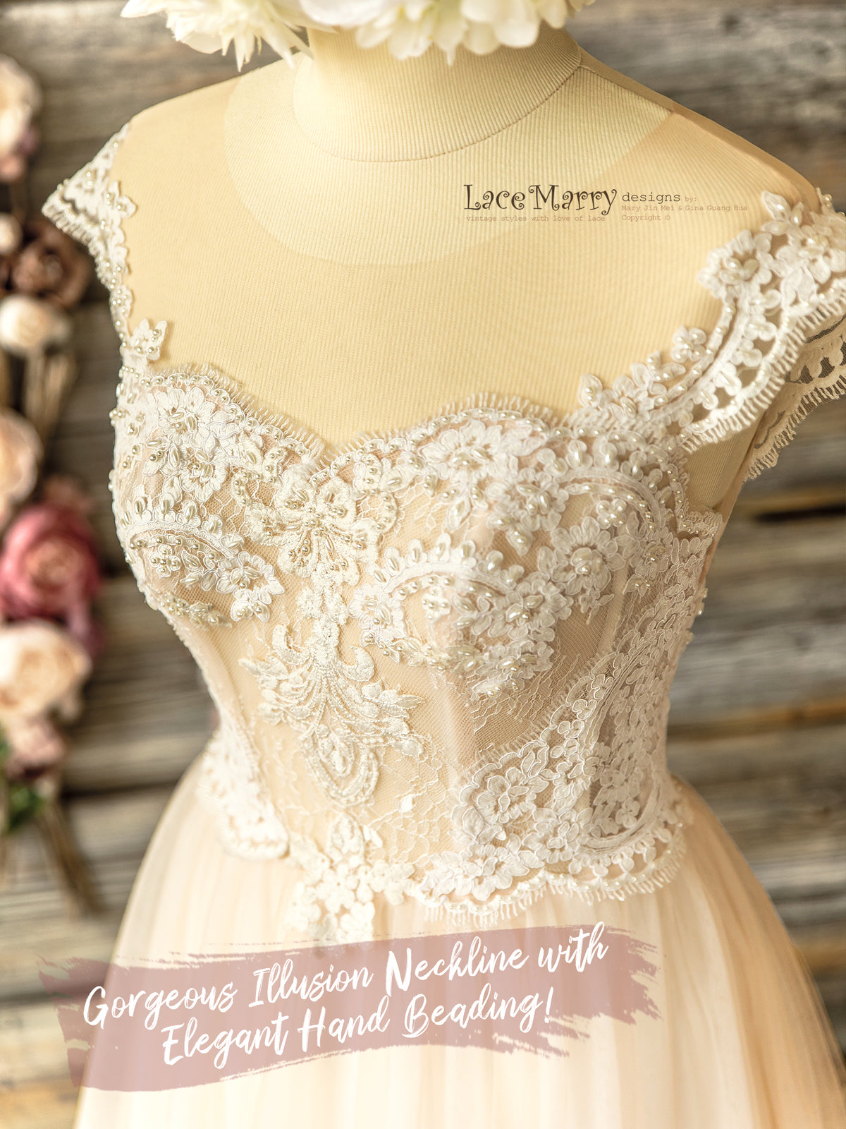 Sweetheart Neckline Bohemian Wedding Dress