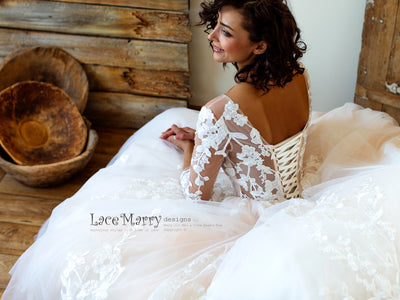 Gorgeous Corset Back Wedding Dress