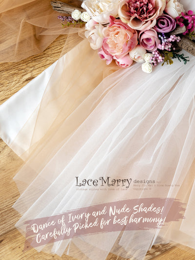 Gorgeous Nude Fabric Wedding Dress