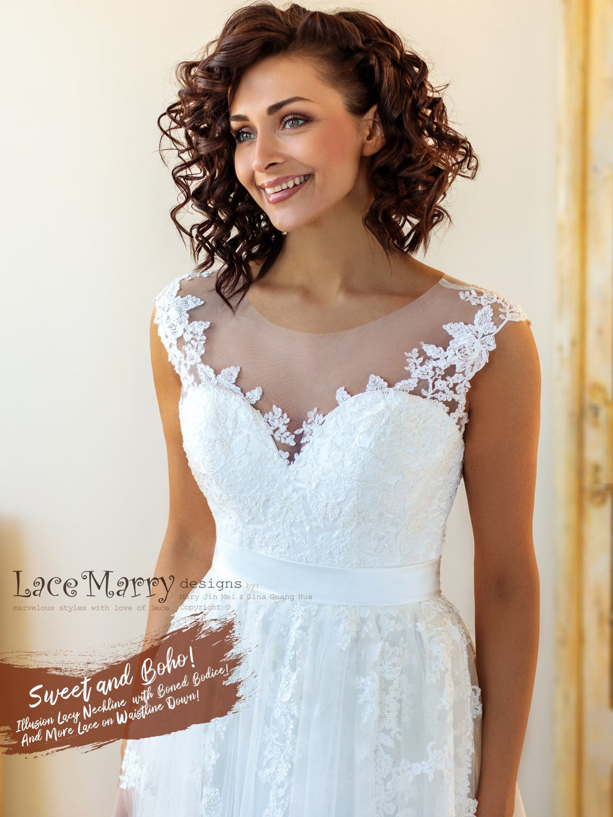 Comfortable Fit Custom Wedding Dress