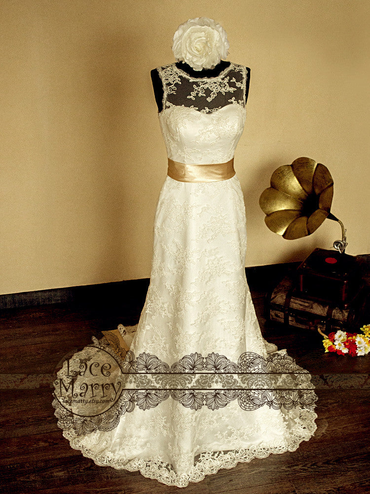 Timeless Beauty Vintage Wedding Dress