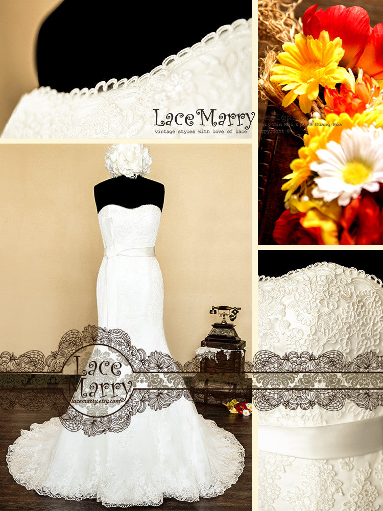 Custom Made Lace Wedding Dress