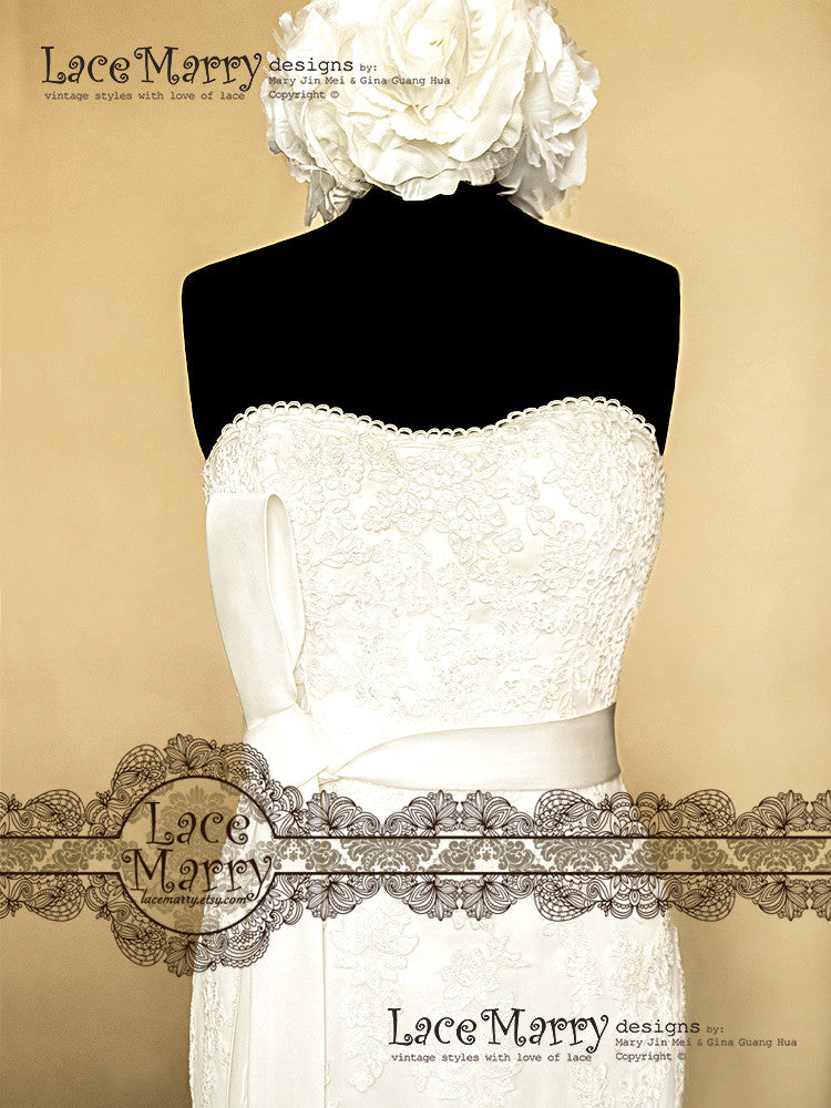 Slight Sweetheart Lace Wedding Dress