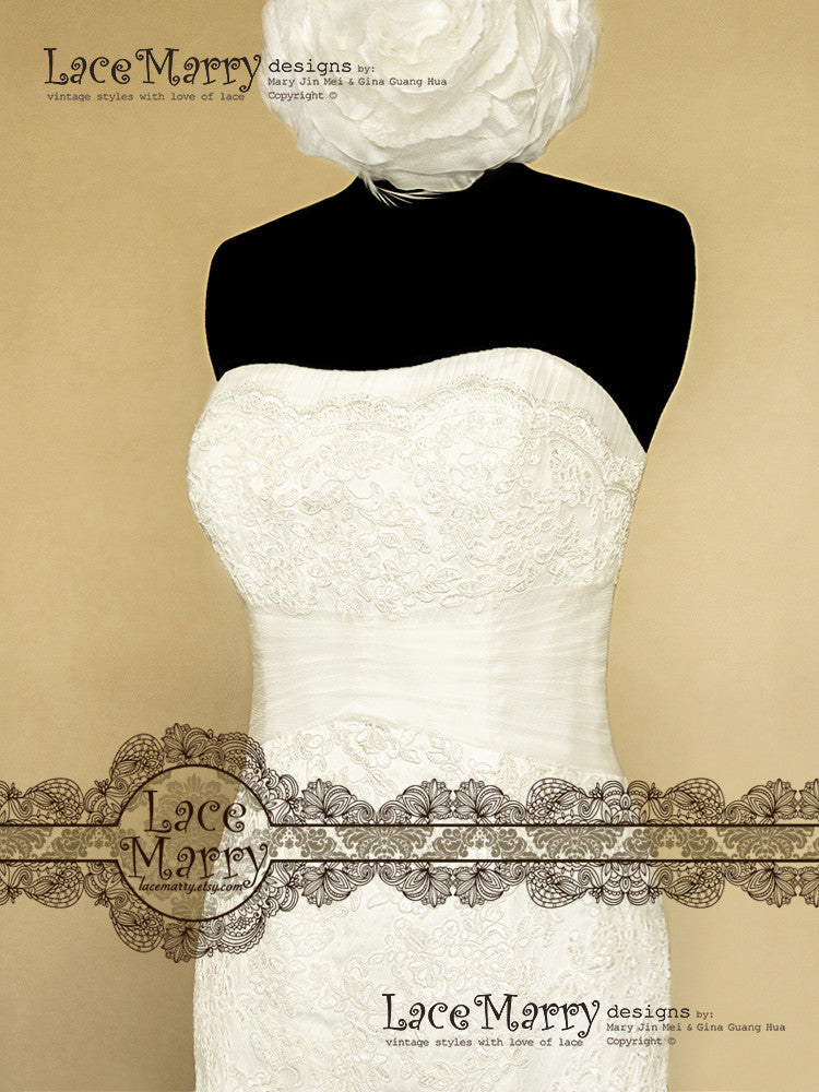 Applique Design Handmade Wedding Dress