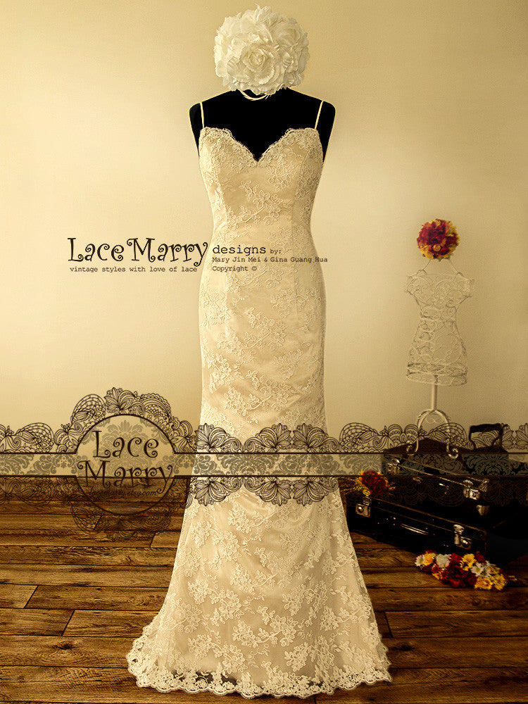 Sweetheart Neckline Sweep Train Wedding Dress