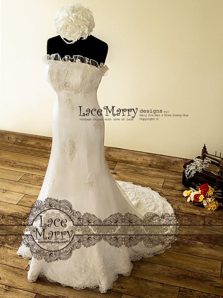 Trumpet Shape Handmade Wedding Dress